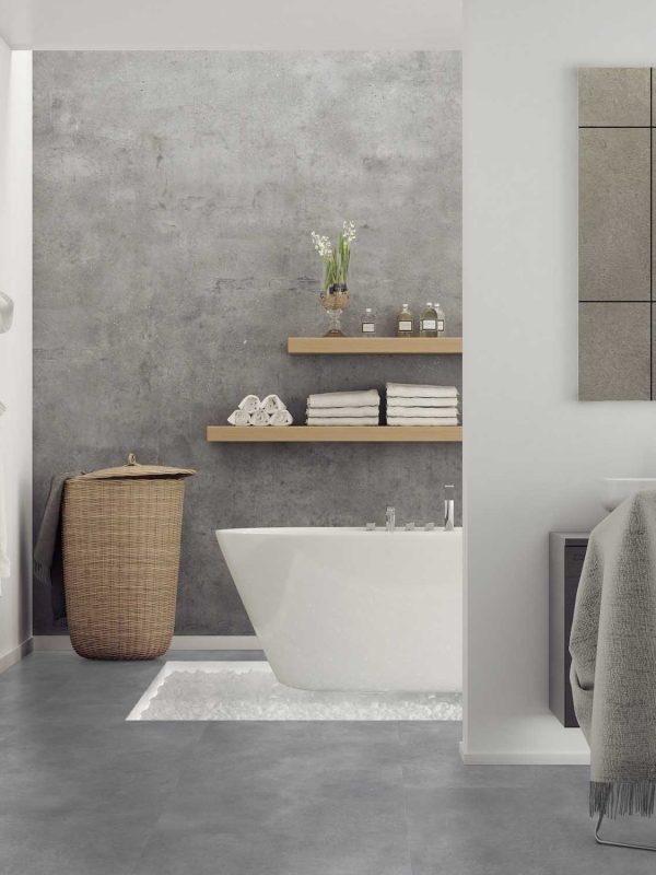 panele winylowe łazienka beton
